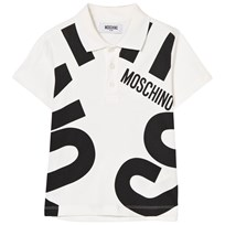 Moschino Kid-Teen White and Black Branded Polo 10063