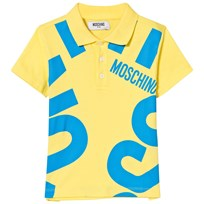 Moschino Kid-Teen Branded Polo Gul Blå 50797