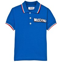 Moschino Kid-Teen Tipped Branded Polo Blå 40457