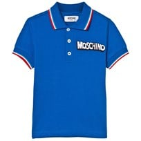Moschino Kid-Teen Blue Tipped Branded Polo 40457