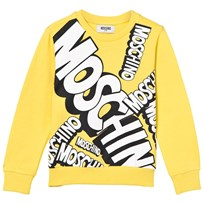 Moschino Kid-Teen Yellow Branded Sweatshirt 50797