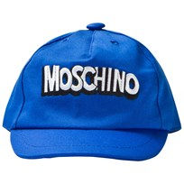 Moschino Kid-Teen Blue Branded Baseball Cap 40457