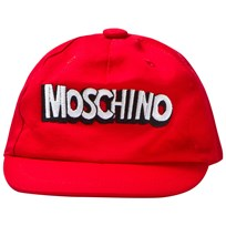 Moschino Kid-Teen Red Branded Baseball Cap 50109
