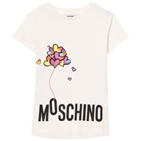 Moschino Kid-Teen White Branded Heart Balloon Tunic 10063