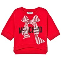 Moschino Kid-Teen Branded Bow Cropped Sweatshirt Röd 50109