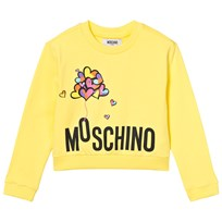 Moschino Kid-Teen Yellow Branded Balloon Sweatshirt 50797