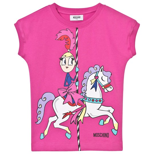 Moschino Kid-Teen Fuchsia Carousel Print Sweat Dress 50018