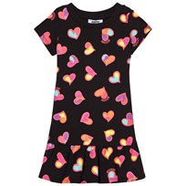 Moschino Kid-Teen Black Heart Print Drop Waist Jersey Dress 82096