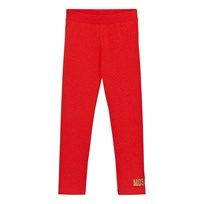 Moschino Kid-Teen Red Branded Leggings 50109