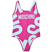 Moschino Kid-Teen Fuchsia Branded Swimsuit 50018