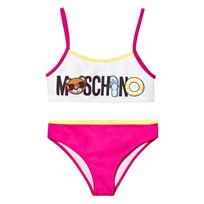 Moschino Kid-Teen Bikini Pink and White Bear Print 10063
