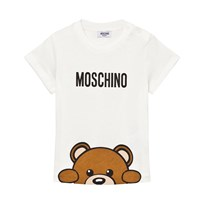 Moschino Kid-Teen Bear Branded T-shirt Vit 10063