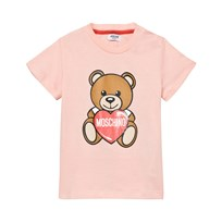Moschino Kid-Teen Pale Pink Bear Print Tee 50128