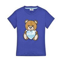 Moschino Kid-Teen Blue Bear Print Tee 40457