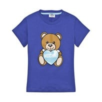Moschino Kid-Teen Bear Branded T-shirt Blå 40457