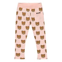 Moschino Kid-Teen Bear Print Leggings Rosa 82094
