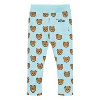 Moschino Kid-Teen Blue Bear Print Leggings 82095