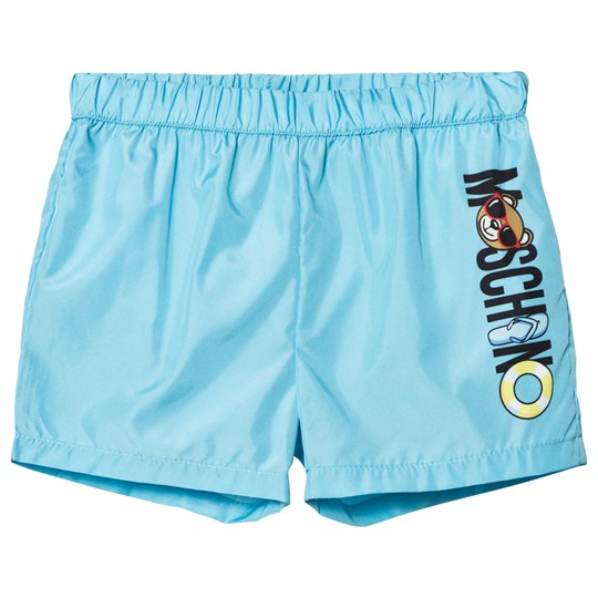 Moschino Kid-Teen Pale Blue Swim Shorts 40386