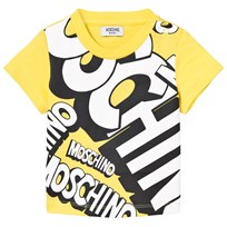 Moschino Kid-Teen Yellow Branded Tee 50797