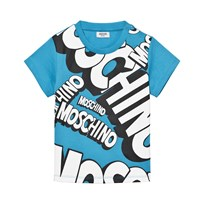 Moschino Kid-Teen Blue Branded Tee 40437