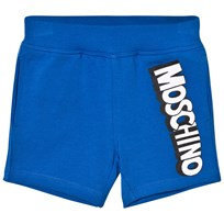 Moschino Kid-Teen Blue Jersey Branded Shorts 40457