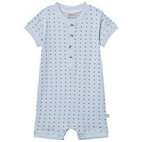 Wheat Romper Placket Sky Sky