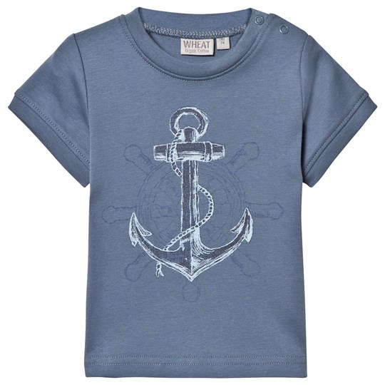 Wheat T-shirt Anchor Ss Blue Blue