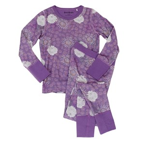 Bilde av Beau & Rooster Purple Flower Pyjama Crushed Grape 122/128 Cm