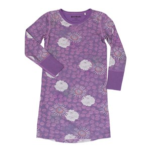 Image of Beau & Rooster Purple Flower Nightdress Crushed Grape 122/128 cm (3031532443)