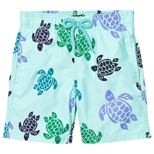 Vilebrequin MINT GREEN MULTI COLOUR TURTLE TRUNK 333LAGON
