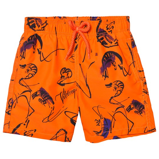 Vilebrequin Orange Print Swimming Trunks 196 KUMQUAT