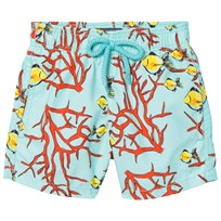 Vilebrequin Blue Coral and Fish Sea Print Swimming Trunks 333 LAGON