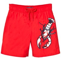 Vilebrequin Red Lobster Embroidered Swimming Trunks 201 POPPY RED