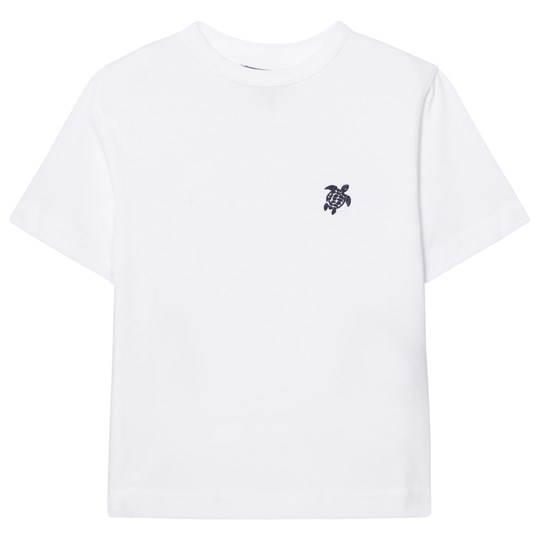 Vilebrequin White Turtle Embroidered Tee 010 BLANC