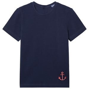 Image of Vilebrequin NAVY TEE WITH RED ANCHOR 12 years (3065504815)