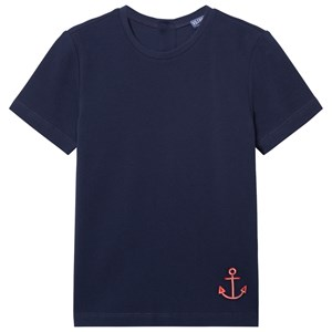 Image of Vilebrequin NAVY TEE WITH RED ANCHOR 14 years (3056049321)