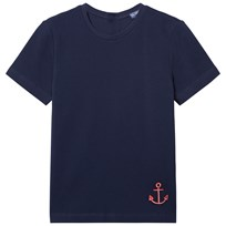 Vilebrequin NAVY TEE WITH RED ANCHOR 390 BLEU MARINE