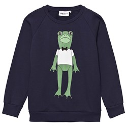 Mini Rodini Frog Sweatshirt Navy
