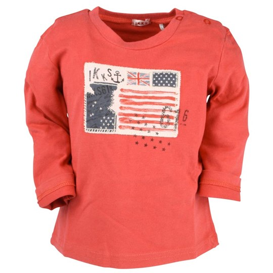 IKKS Tee-shirt ML Rouge  Red