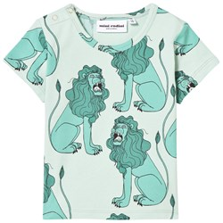 Mini Rodini Lion Tee Light Green