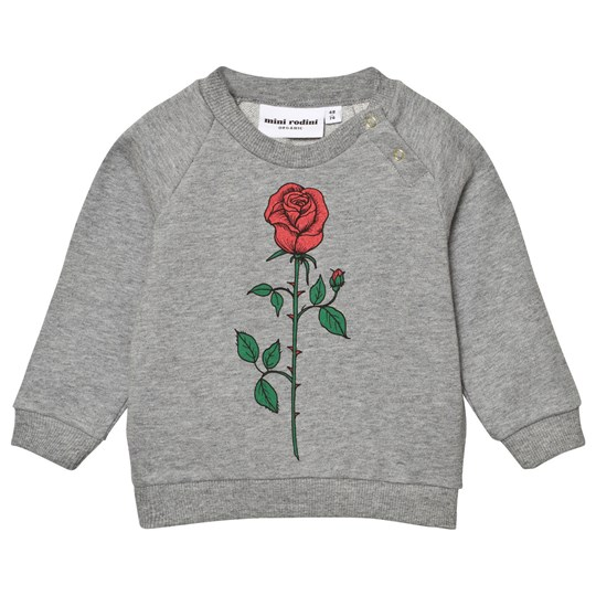 Mini Rodini Rose Sweatshirt Grey Melange Grey Melange
