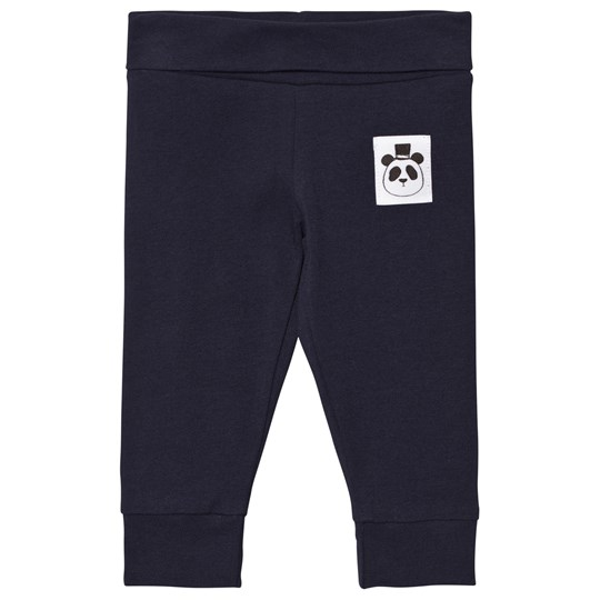 Mini Rodini Basic Newborn Leggings Marinblå Navy