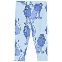 Mini Rodini Lion Leggings Ljusblå Light Blue