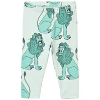 Mini Rodini Lion Leggings Ljusgrön Light Green