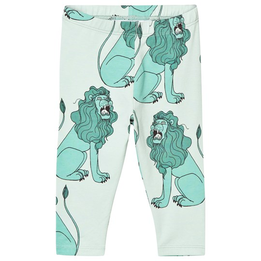 Mini Rodini Lion Leggings Light Green Light Green