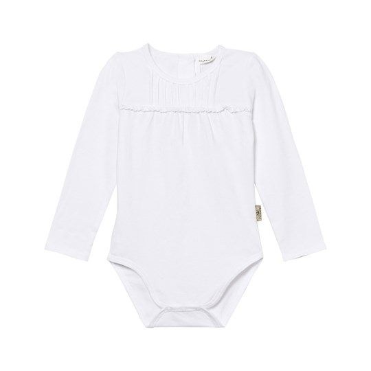 Hust&Claire Baby Body med Spets Vit White