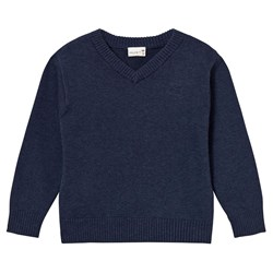 Hust&Claire V-Neck Jumper Night Blue