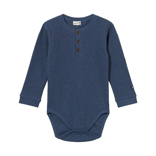 Hust&Claire Baby Body With Buttons Blue Moon Blue moon