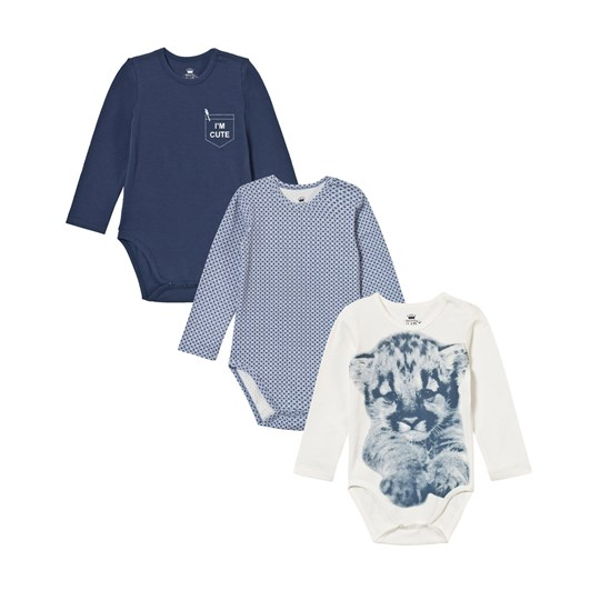 Hust&Claire Baby Body 3-Pack Blue Bell Blue Bell