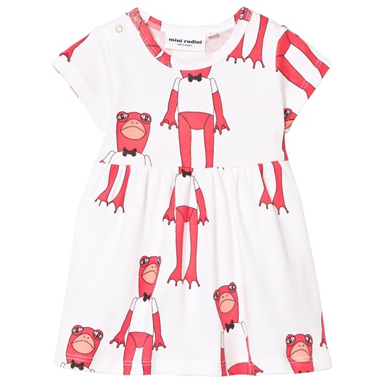 Mini Rodini Frogs Dress Cerise Cerise